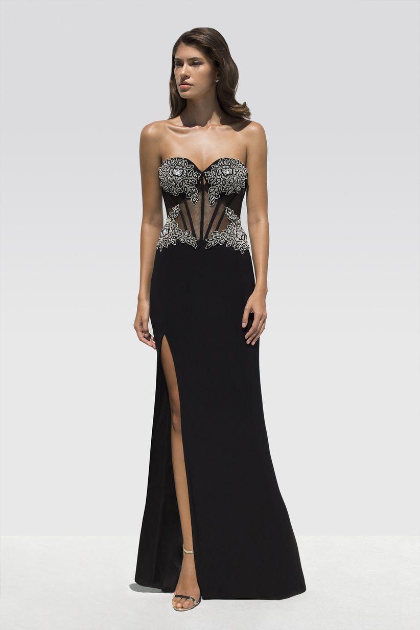 Collar para vestido negro straple