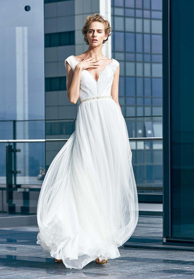 85 vestidos de novia 2018 para una boda en la playa - bodas.com.mx
