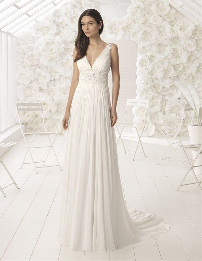 los 30 vestidos de novia corte imperio más bonitos de 2018 - bodas