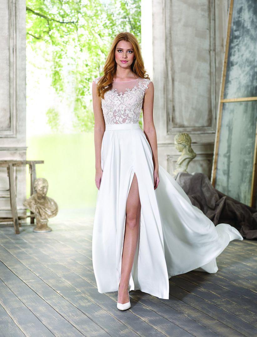 488ba824 75 vestidos de novia con abertura en la falda, esa sensual tentación ...