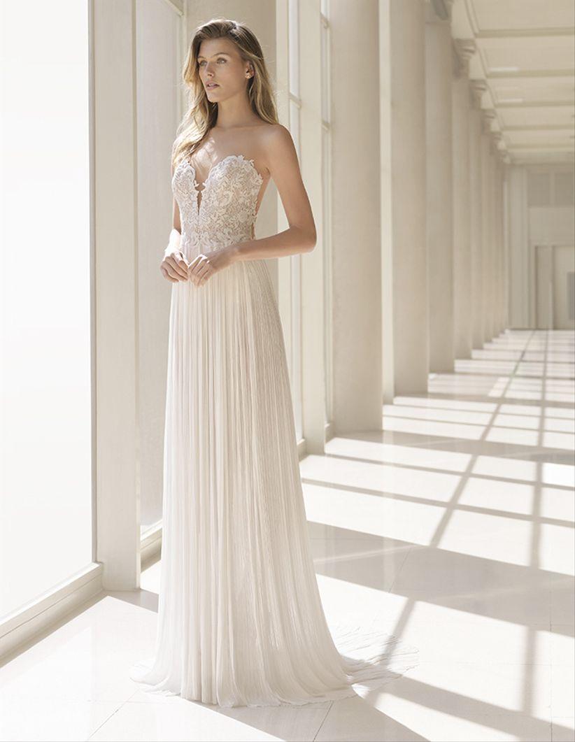 60 vestidos ideales para novias bajitas con grandes sueños