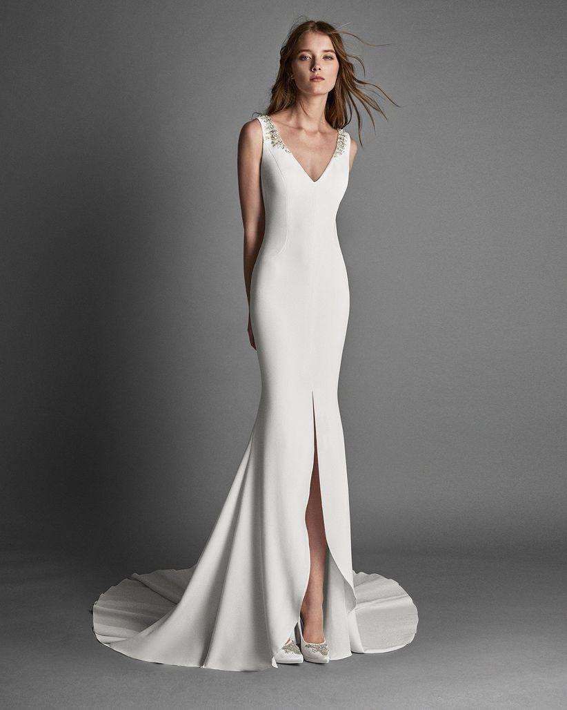 84ae2133c 75 vestidos de novia con abertura en la falda