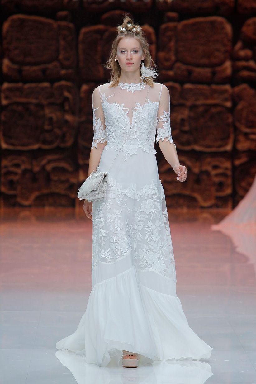 90 increíbles vestidos de novia con manga - bodas.com.mx
