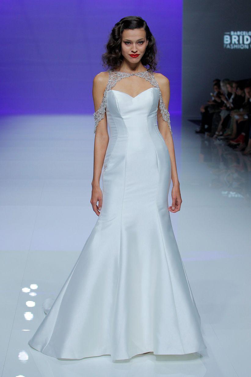 55 vestidos de novia sencillos: un lienzo en blanco para tu boda ...