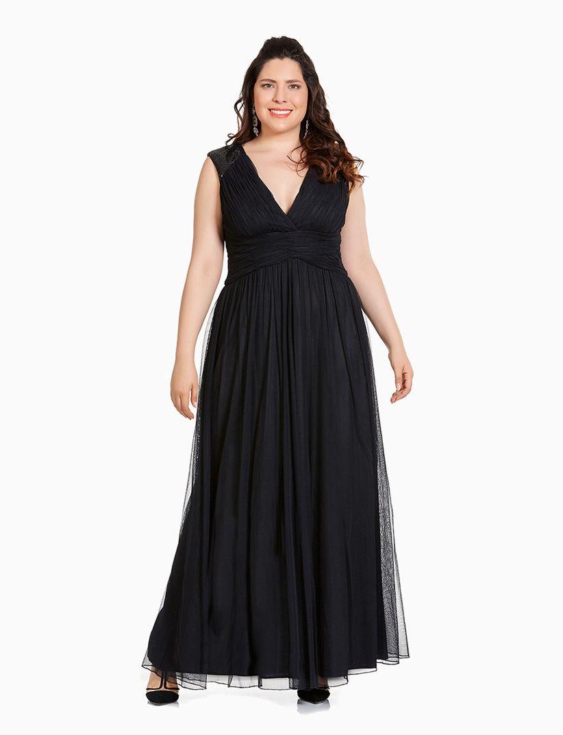 Vestidos de fiesta largos color negro
