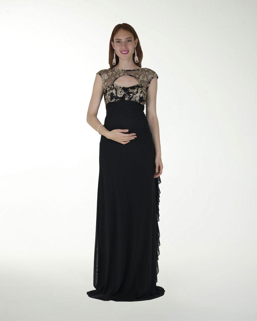 d30358520 25 vestidos de fiesta para embarazadas  estilismos que valen por dos ...
