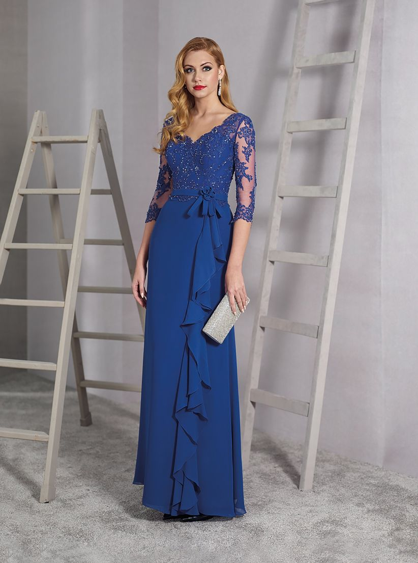 661c4a96a 45 vestidos de noche azul rey para brillar como invitada - bodas.com.mx