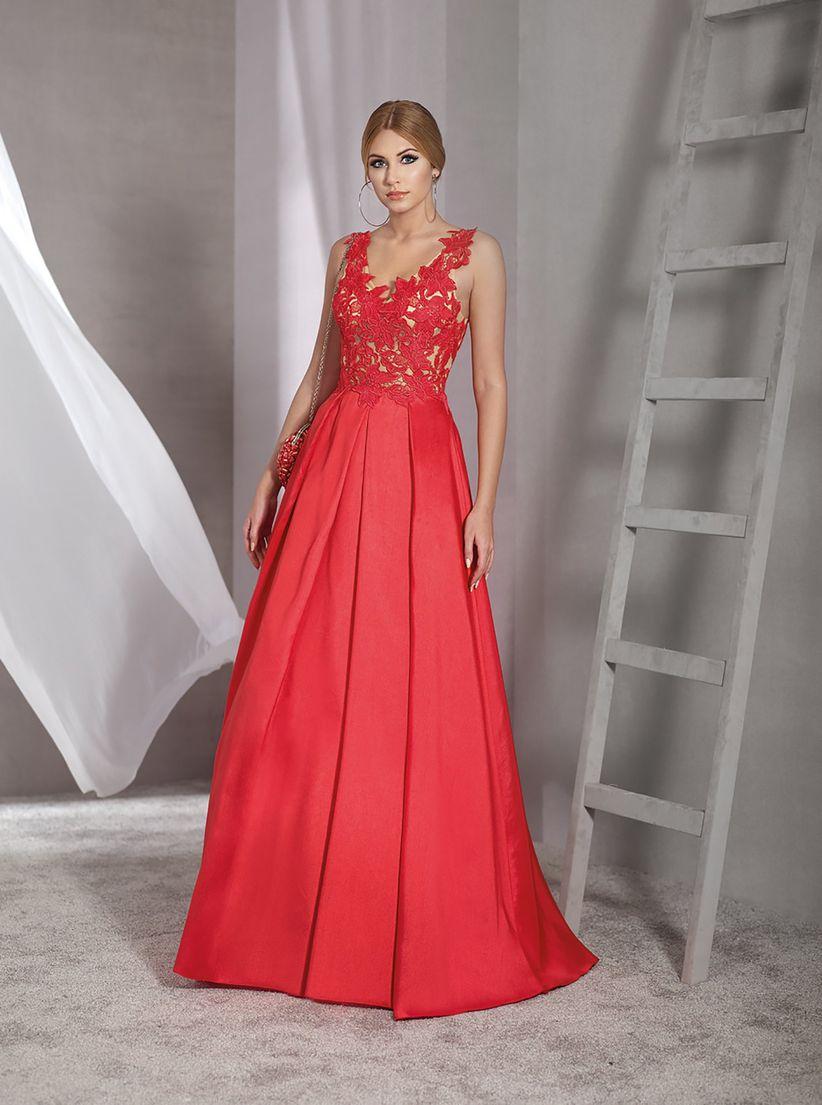 39d6c78ed 45 vestidos rojos de noche que te hipnotizarán - bodas.com.mx