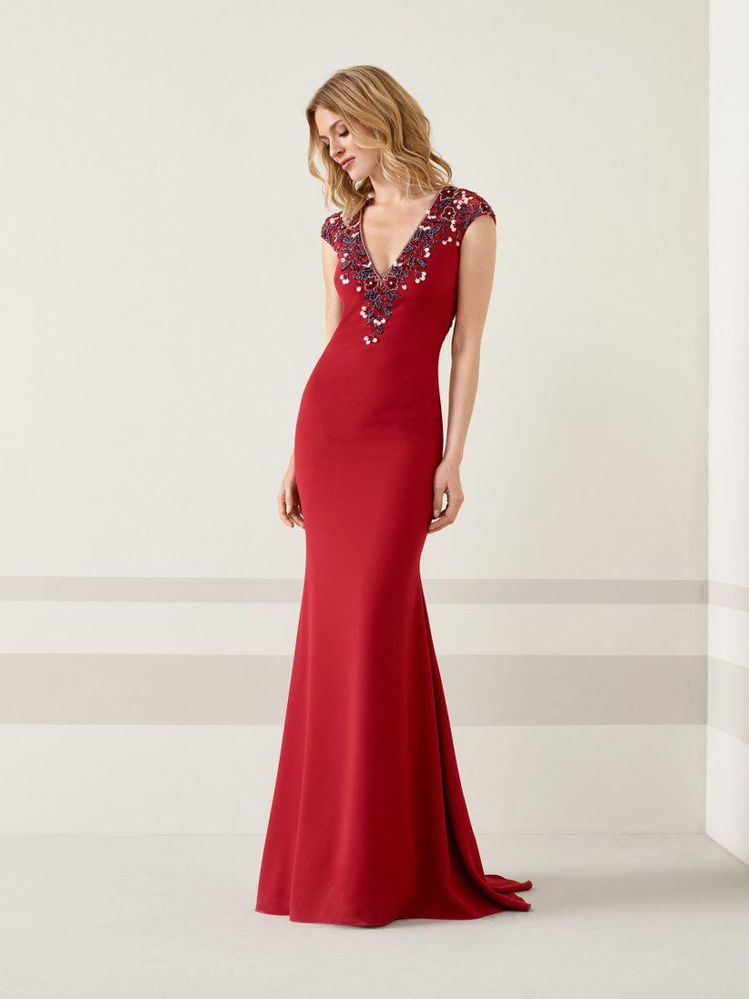23ed0b44510 45 vestidos rojos de noche que te hipnotizarán - bodas.com.mx