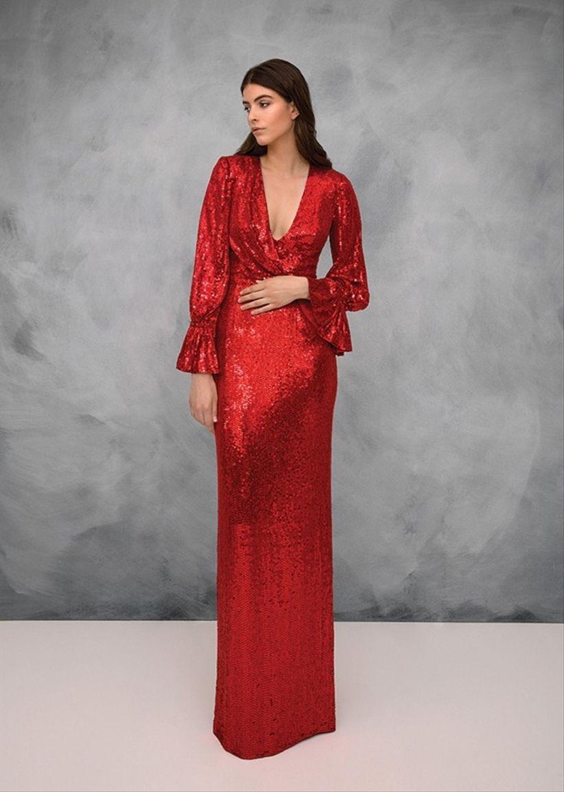 Vestidos rojo quemado cortos