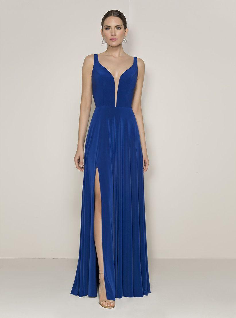767a9efcf 45 vestidos de noche azul rey para brillar como invitada - bodas.com.mx