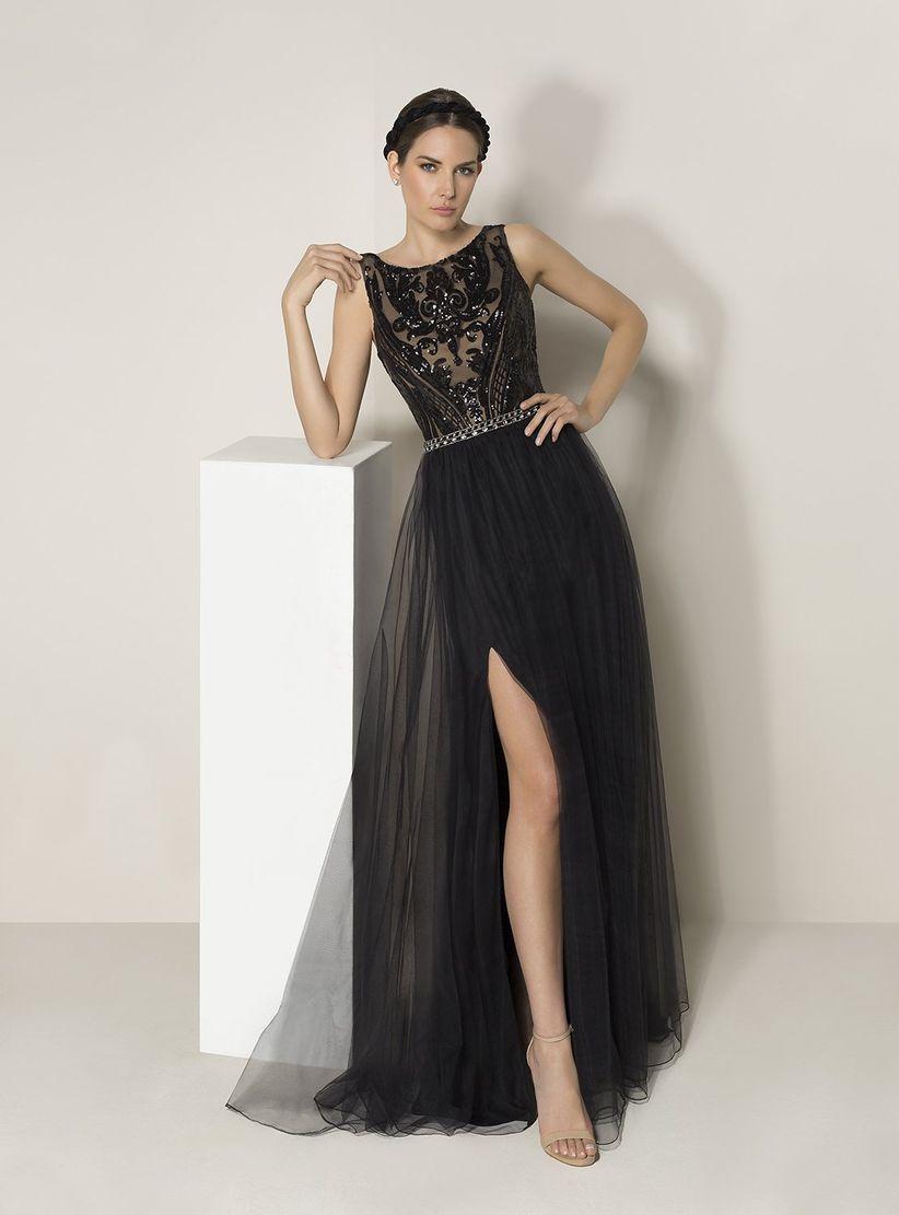 Vestido negro de noche corto