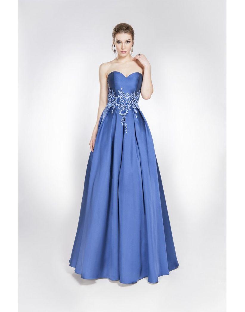 Vestidos de noche color azul electrico