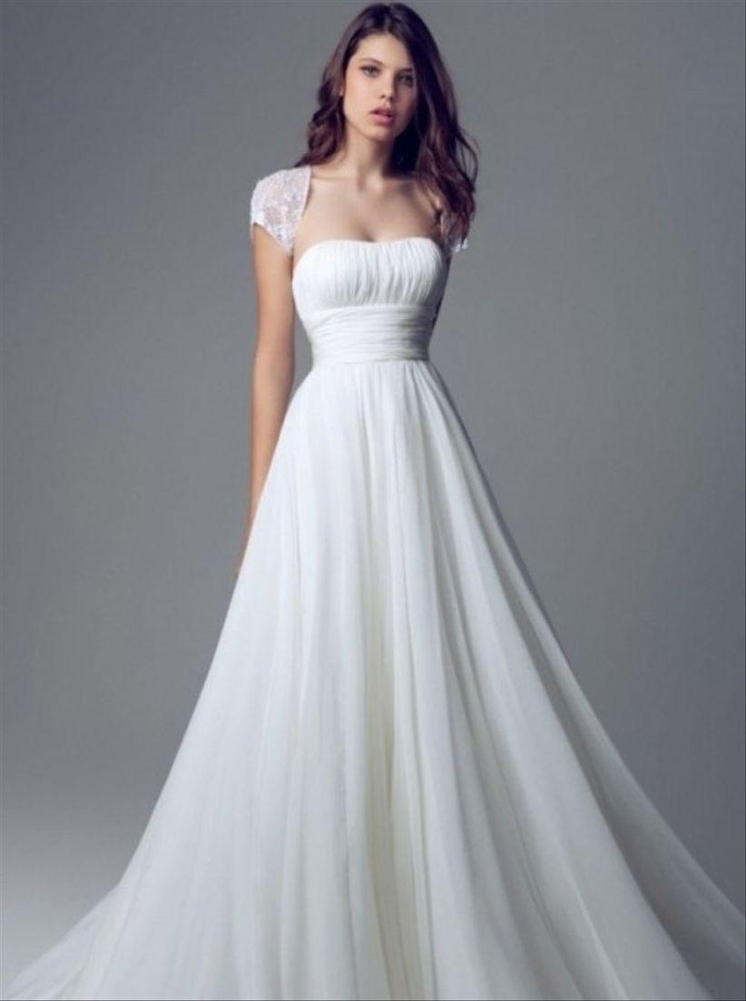 Modelos de vestidos de novia romanticos