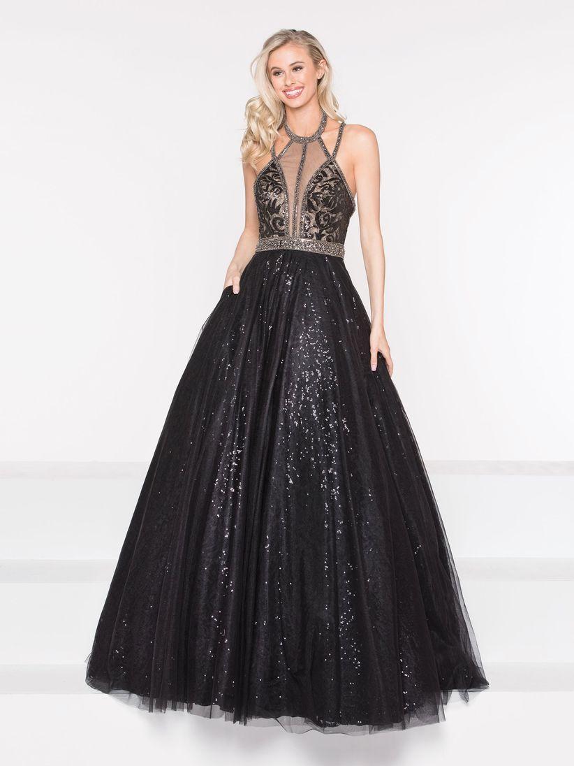6197b2f20a 60 vestidos de noche negros... ¡sí