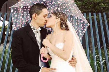 Fotos de boda con sombrillas