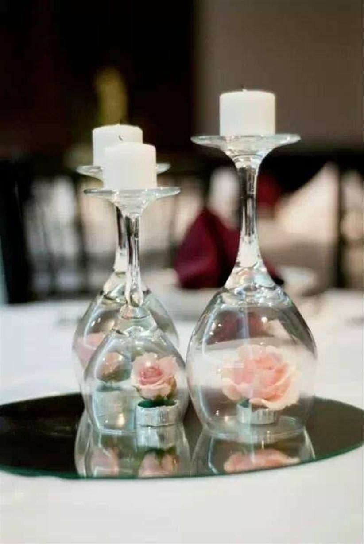 4 ideas para centros de mesa diy - Cristales para mesa ...