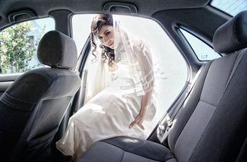 Tips para entrar y salir del auto nupcial
