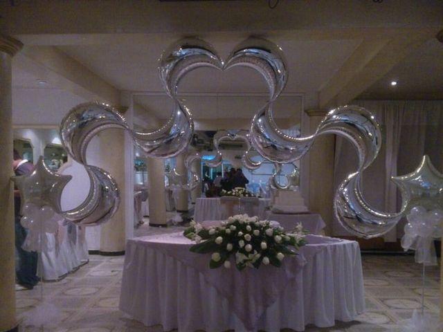 Boda con globos foro organizar una boda for Pedestales metalicos para mesas
