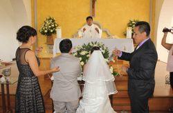 Los padrinos de la boda religiosa
