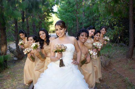 ¿Cuántas damas de honor puedes tener en tu boda?