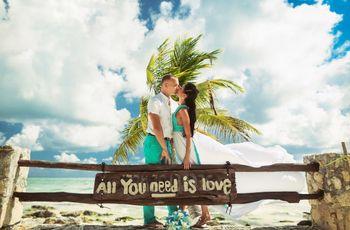 80 fotos en las que inspirar la decoración de su boda en la playa
