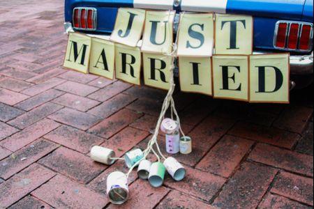 7 ideas para el letrero de recién casados: que todos se enteren