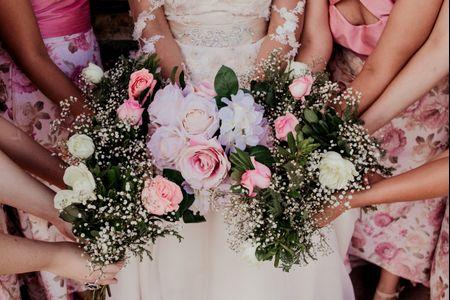 5 ideas para los ramos de tus damas: ¡una flor para otra flor!