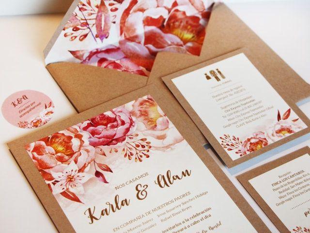 ¿Invitaciones de boda vintage? 40 ideas frescas con aroma añejo