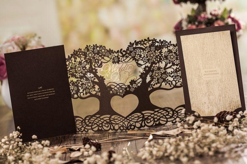 invitaciones de boda de est tica diy materiales que. Black Bedroom Furniture Sets. Home Design Ideas