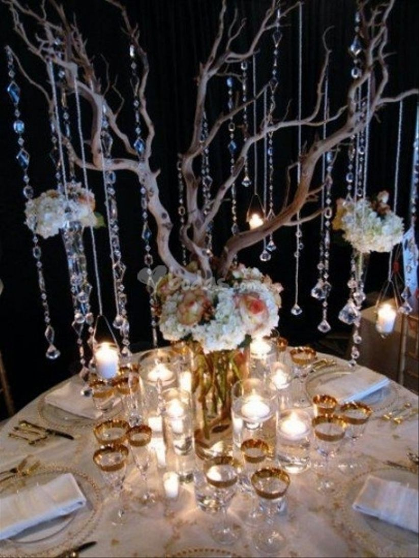 Decoraci n con ramas - Cristales para mesa ...