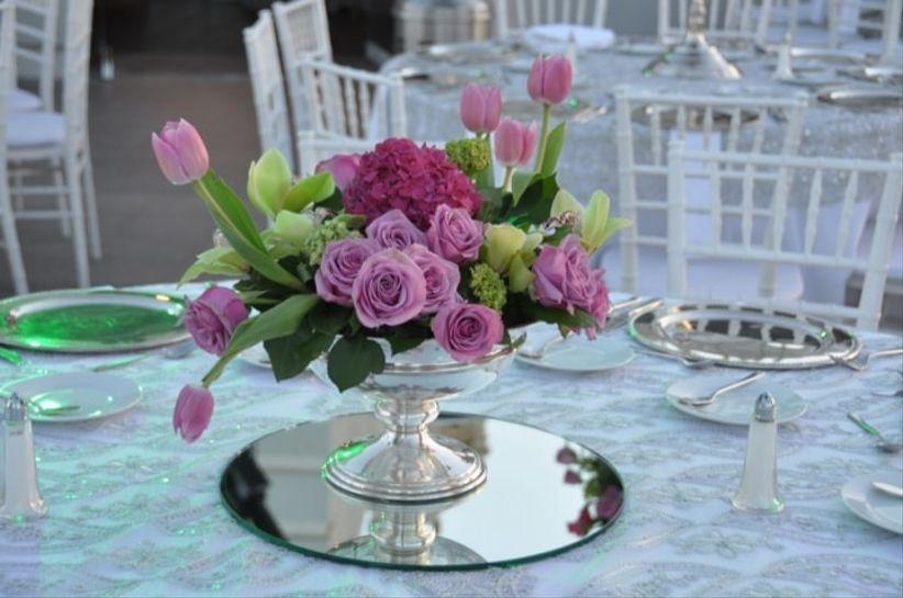 20 decoraciones para las mesas del banquete for Articulos decoracion jardin