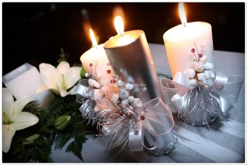 Boda navide a for Centros navidenos con velas