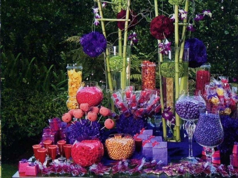 inolvidable a sus invitados en la boda, una mesa de dulces es una