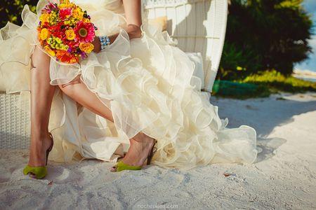 55 zapatos de novia de colores: pon el arcoíris a tus pies