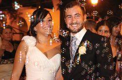 Lluvia de burbujas en tu boda