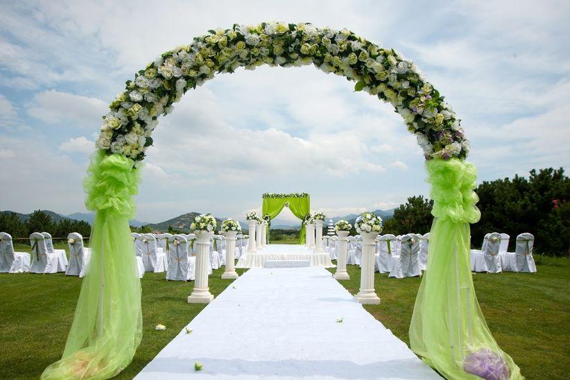 Color tendencia para el 2017 greenery for American wedding decoration ideas
