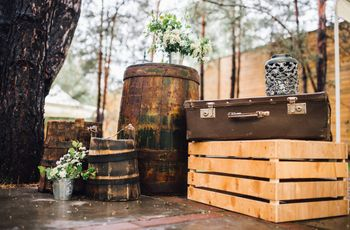 9 ideas para decorar con barriles: cásate con las bodas eco-rustic