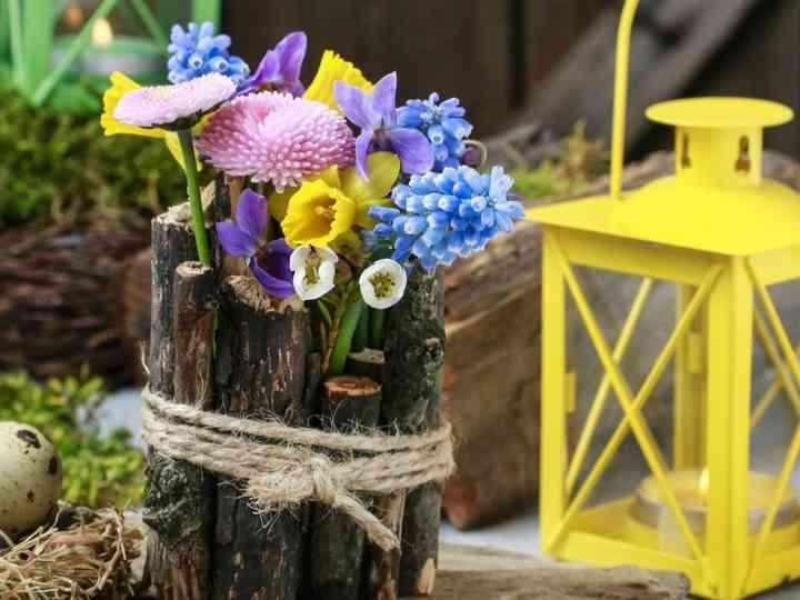 Centros de mesa handmade para una boda rústica muy detallista