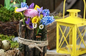 Centros de mesa 'handmade' para una boda rústica muy detallista
