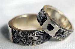 Alianzas de boda con la huella dactilar