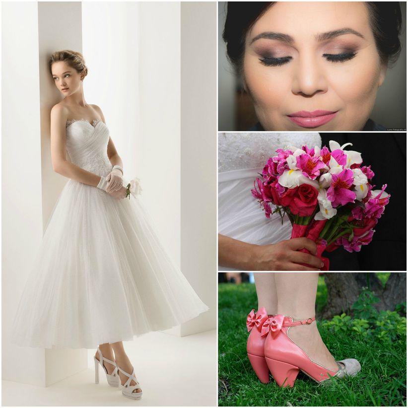 f73f63e41b Look de novia Pin-Up - bodas.com.mx