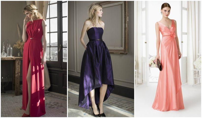 Vestidos largos de damas sencillos