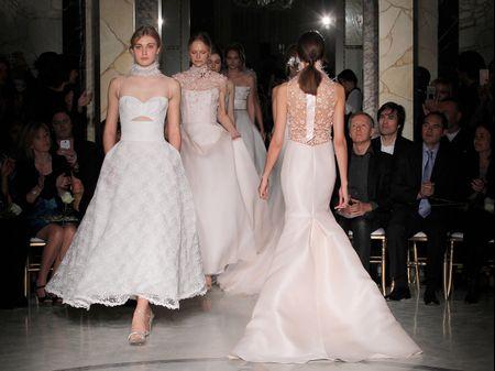 Lo nuevo en vestidos de novia de Angel Sanchez, el diseñador de las celebrities