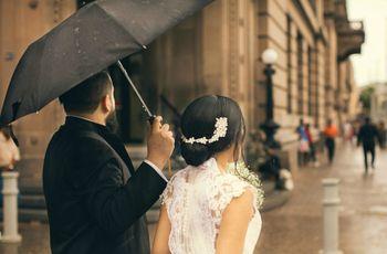 Si llueve en la boda, ¿cómo estar preparados?