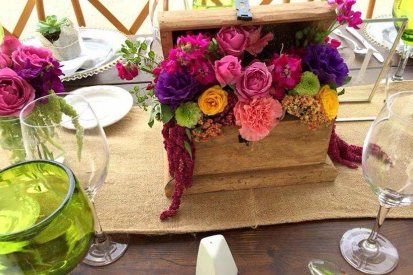 Arreglos de mesa para boda 9 elementos top para - Baules baratos madera ...