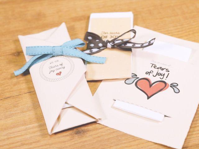 Fundas para pañuelos personalizadas... ¡y a llorar de felicidad!