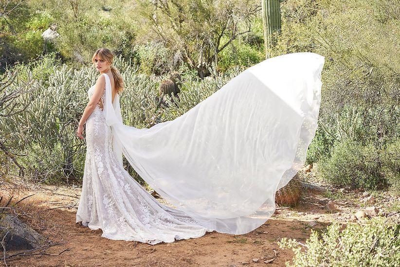 8 tipos de cauda para el vestido de novia, ¡conócelas! - bodas.com.mx