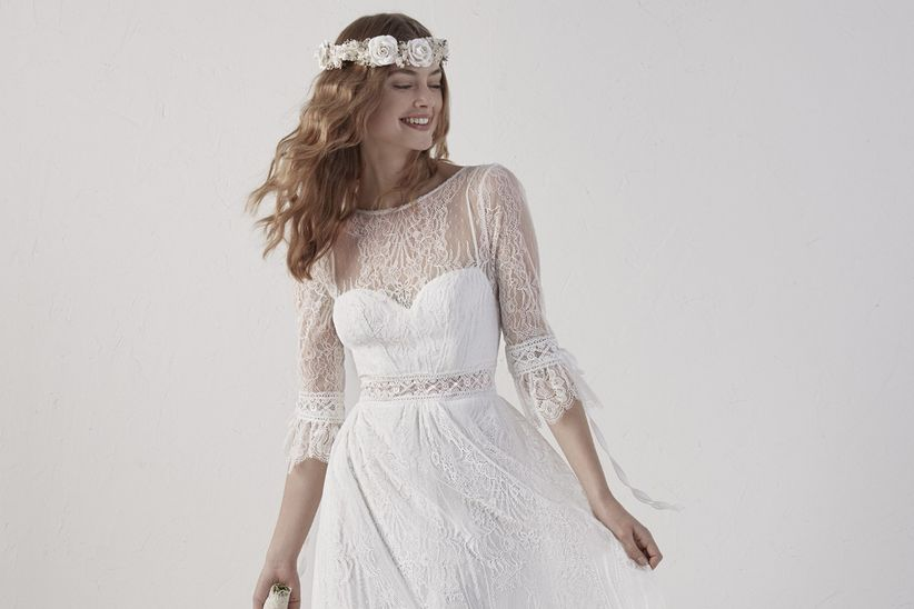ae03dfbd8 90 increíbles vestidos de novia con manga - bodas.com.mx