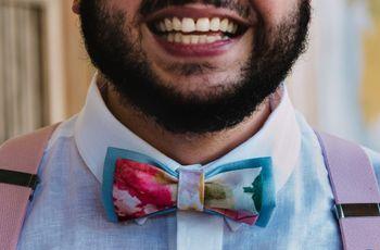 9 tipos de estampado para el moño o la corbata del novio